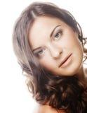 giovane donna con capelli ricci Fotografie Stock