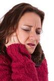 Giovane donna con dolore Fotografia Stock