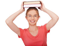 Giovane donna con i libri Fotografia Stock Libera da Diritti