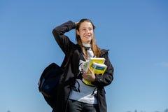 Giovane donna con i libri Immagine Stock Libera da Diritti