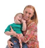 Giovane donna con il bambino Immagini Stock