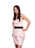 Giovane donna con il colore rosa Fotografia Stock Libera da Diritti