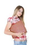 Giovane donna con il libro immagini stock