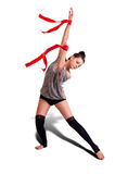 Donna della ginnasta Fotografie Stock