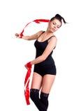 Donna della ginnasta Fotografia Stock Libera da Diritti