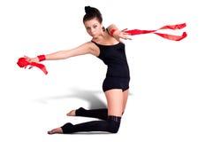 Donna della ginnasta Fotografia Stock