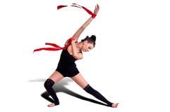 Donna della ginnasta Immagini Stock