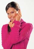 Giovane donna con il pullover Fotografie Stock