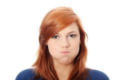 Giovane donna con il singhiozzo Fotografia Stock Libera da Diritti
