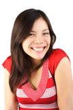 Giovane donna con il sorriso sveglio Fotografia Stock Libera da Diritti
