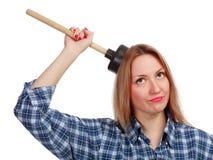 Giovane donna con il tuffatore fotografie stock libere da diritti