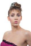 Giovane donna con l'acconciatura Fotografia Stock Libera da Diritti