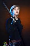 Giovane donna con l'arco Immagine Stock Libera da Diritti
