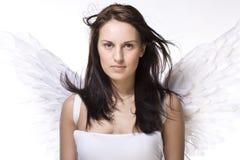 Giovane donna con le ali di angelo Fotografie Stock Libere da Diritti