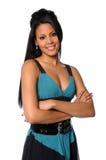 Giovane donna con le braccia attraversate Fotografia Stock