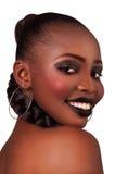 Giovane donna con pelle pulita Fotografie Stock
