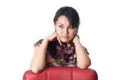 Giovane donna contemplativa Fotografie Stock Libere da Diritti