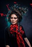 Giovane donna in costume di fantasia fotografia stock