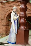 Giovane donna in costume russo Fotografia Stock Libera da Diritti