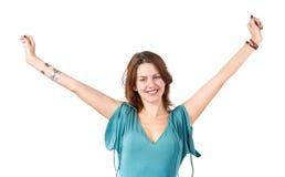 Giovane donna d'allungamento felice Fotografia Stock Libera da Diritti
