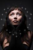Giovane donna dark-haired Immagine Stock