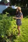 Giovane donna del giardiniere Fotografie Stock Libere da Diritti