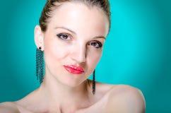 Giovane donna del ritratto di bellezza Immagini Stock Libere da Diritti