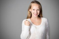 Giovane donna del vincitore Fotografia Stock