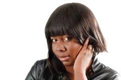 Giovane donna dell'afroamericano Fotografia Stock