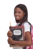 Giovane donna dell'afroamericano dello studente di college Fotografia Stock Libera da Diritti