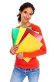 Giovane donna dell'allievo con i libri Fotografia Stock