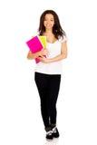 Giovane donna dello studente con le note Immagini Stock Libere da Diritti