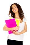 Giovane donna dello studente con le note Immagine Stock Libera da Diritti