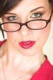 Giovane donna di affari adulta fotografie stock libere da diritti