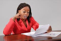Giovane donna di affari africana Fotografia Stock Libera da Diritti