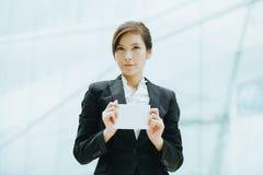 Giovane donna di affari asiatica Immagini Stock Libere da Diritti