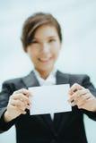 Giovane donna di affari asiatica Fotografia Stock Libera da Diritti