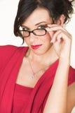 Giovane donna di affari caucasica Fotografia Stock