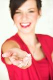 Giovane donna di affari caucasica Fotografie Stock