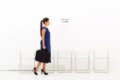 Intervista della donna di affari Immagine Stock
