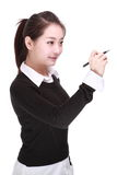 Giovane donna di affari con la penna Immagini Stock Libere da Diritti