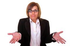 Giovane donna di affari confusa Immagine Stock Libera da Diritti