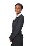 Giovane donna di affari dell'afroamericano Fotografie Stock Libere da Diritti
