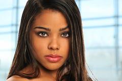 Giovane donna di affari dell'afroamericano Fotografia Stock