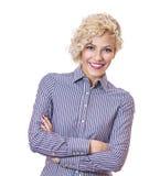 Giovane donna di affari di sorriso Immagini Stock