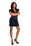 Giovane donna di affari nera Fotografia Stock Libera da Diritti