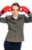 Giovane donna di affari, sforzo Fotografie Stock Libere da Diritti