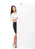 Giovane, donna di affari sicura, riuscita e bella Fotografia Stock