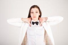 Giovane donna di affari sollecitata e deprimente immagini stock libere da diritti