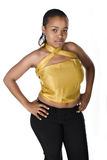 Giovane donna di colore attraente Fotografie Stock